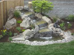 Small Picture Natural Garden Waterfalls For Backyard Design Exterior Outdoor