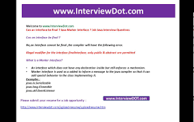 can an interface be final java marker interface job interview can an interface be final java marker interface job interview question