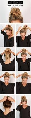 cool and easy diy hairstyles messy bun quick and easy ideas for back to