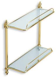 glass shelves for bathroom. double glass bathroom shelf, gold traditional-bathroom-cabinets-and-shelves shelves for