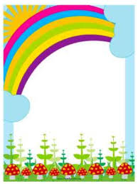 Rainbow Page Border 100 Pages Borders Template