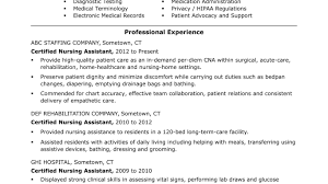 Cna Resume Summary Examples Surprising Professional Cna Resume Sample For Lovely Objective Forms 48