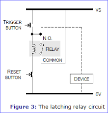 relays electronics in meccano figure 3 the latching relay circuit