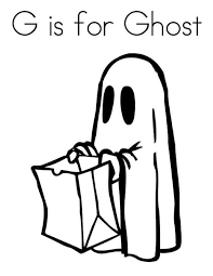 G For Ghost Coloring Page Coloring For Kids 2019
