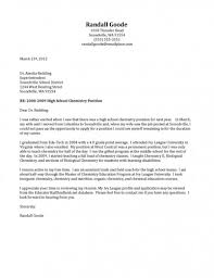 Sample Cover Letter For High School Science Teacher Corptaxco Com