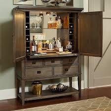 American Drew Park Studio 2 Door Mirrored Back Bar Cabinet in