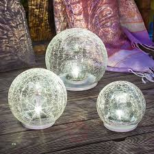 Large Crackle Solar Lights Led Solar Light Set Crackle Ball Set Of 3