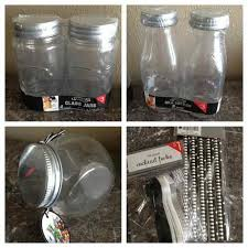 i love these glass jars and other goos
