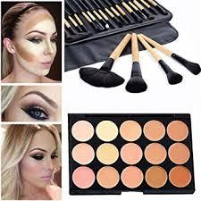 mefeir 15 colors concealer camouflage makeup palette contour face contouring kit 24 pcs makeup brush