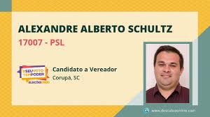 Alexandre Alberto Schultz 17007 PSL Candidato a Vereador Corupá, SC