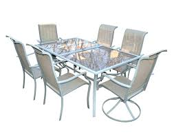 48 glass patio table brown round