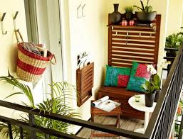 small balcony furniture. Balcony Design Ideas Small Of Collapse Furniture Stool Wood Wall Coat Rack