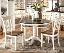 create warm dining setting with rustic round room tables chic white table chairs set brown