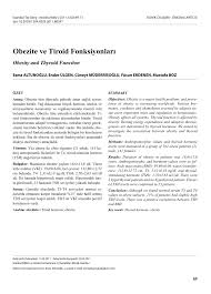 pdf thyroid function and obesity