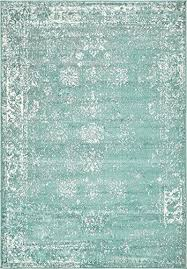 A Turquoise 4u0027 X 6u0027 FT Canterbury Rug Modern Traditional Vintage Inspired  Overdyed