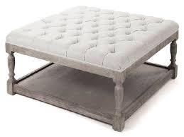 sensational fabric tufted coffee table ottoman wonderful decoration contemporary interior design handmade premium material high quality