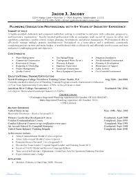 Plumber Resume Delectable Plumbers Cv Styles Plumbing Template Apprentice Sample Journeyman