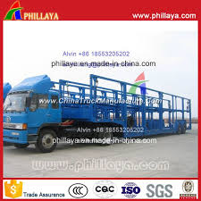 2 axle skeleton type frame open car carrier transportation semi trailer for philippines for 6