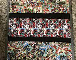 Superhero quilt | Etsy & Superhero quilt, comic strip quilt, marvel quilt Adamdwight.com