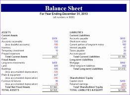 10 Non Profit Balance Sheet Template Excel - Exceltemplates ...