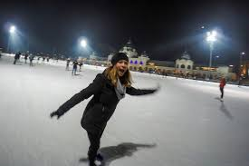 europe s largest outdoor skating rink ice skating in budapest  ice skating in budapest at europe s largest outdoor ice skating rink
