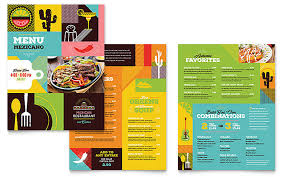 To Go Menu Templates Menu Brochures Restaurant To Go Menu Tri Fold Brochure Template
