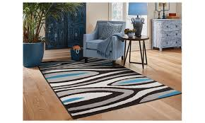 abstract rug black blue tan 8x11 area rugs