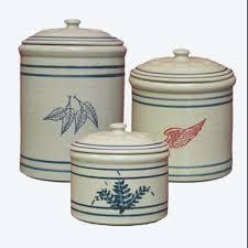 3 piece crock canister set
