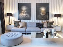 modern furniture living room color. Tufted Round Ottoman With Mid Century Sectional Fabric Covers Lovely Artwork Portray For Modern Gray Living Room Furniture Color N