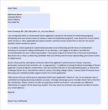Letter Of Recommendation For Scholarship - 6+ Free Word, Excel, Pdf ...