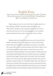 journeys essay related and perscribed text year hsc  steven spielberg essay on horrors of war in