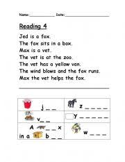 Each book has pages with a single word and a picture of the word next to it, under a flap. Phonics Worksheets