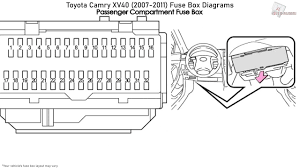 2011 Camry Fuse Diagram Toyota Tacoma Fuse Box Location