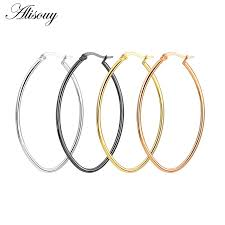 Alisouy <b>Fashion New 1Pair</b> Stainless steel Gold Silver Small Big ...