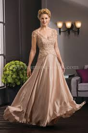 Designer Mother Of The Bride Gowns K188051 Long V Neck Lace Satin Face Chiffon Mob Dress With
