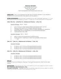 List Of Resume Objectives Career Objectives List Resume Objective