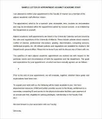 Adjunct Academic Staff Appointment Letter Template Word Doc1