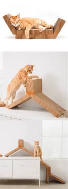 Accessories: Cat Perch Simple Modern Hangs On Wall - Cat Toys