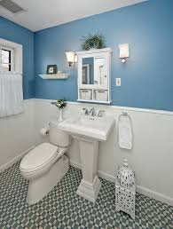 Small Picture Blue and White Bathroom Wall Design with Beautiful Floor Home