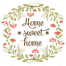 Small Picture Home sweet home background with delicate watercolor flowers