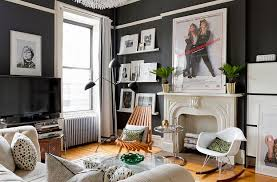 Image Apartment Decorating Dark Walls For The Chic Eclectic Living Space photography Rikki Snyder Decoist 50 Eclectic Living Rooms For Delightfully Creative Home