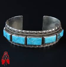 quality turquoise vine navajo row cuff bracelet sterling silver old jewelry