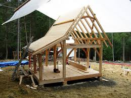 Small Picture Timber framed tiny house with through mortise staircase Tiny