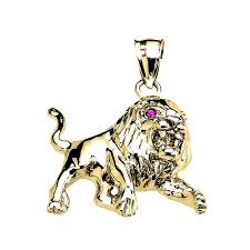 gb64499y 597 instock s goldboutique com diamond cz roaring full lion pendant necklace in gold gb64499y gold boutique