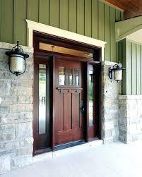 front door lanterns front door light front door lighting ideas entry craftsman with wood door stone front door
