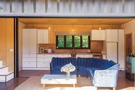 Small Picture Thinking outside the box in a 60sqm container house in cherry