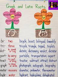 Latin Roots Chart Greek And Latin Roots Anchor Chart Writing Skills