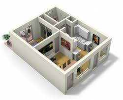 D Apartment Design Home Design Excellent D Studio Apartment - Studio apartment floor plans 3d
