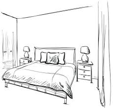 dream bedroom furniture. Drawn Bedroom Interior Sketch Hand Furniture Stock Vector Dream Drawing