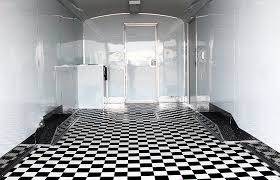 picture of checd vinyl flooring black and white